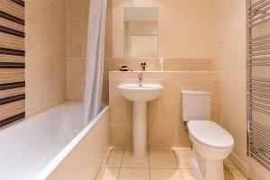 Service apartment bathroom