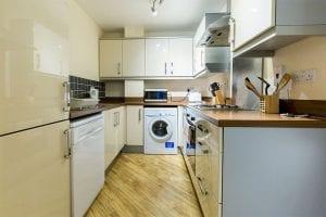 Service apartment kitchen