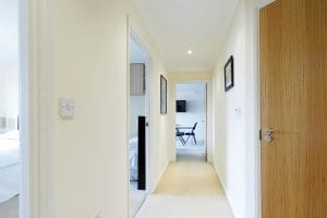 Hallway of luxury 2 bed Penthouse apartment to rent in Hemel Hempstead