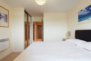 Master bedroom of luxury 2 bed Penthouse apartment to rent in Hemel Hempstead